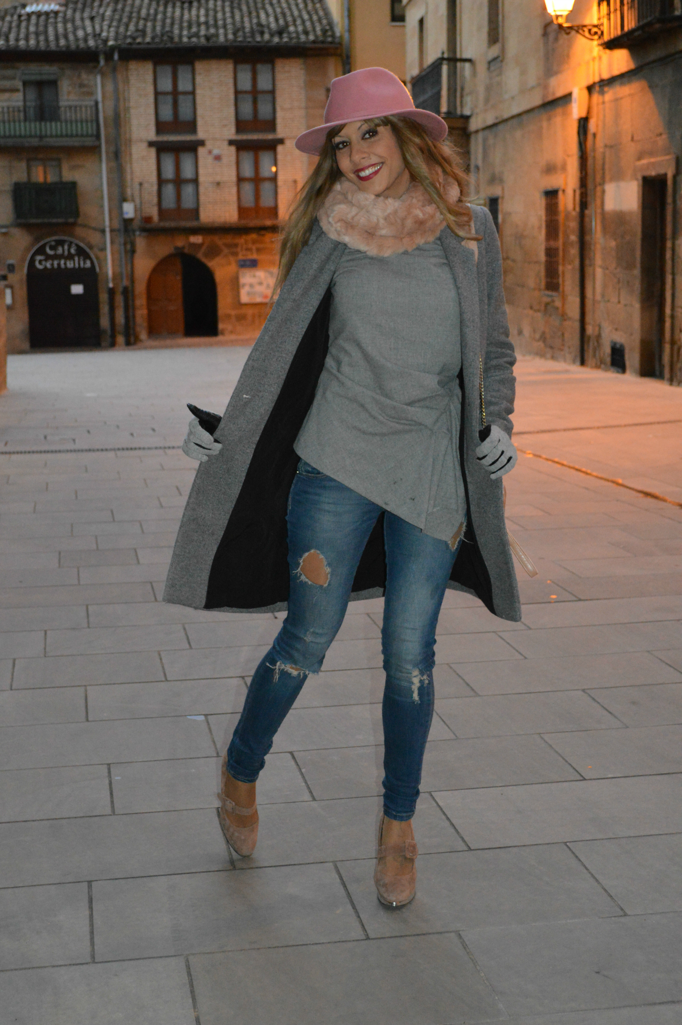 perfect outfit oficina gris 9